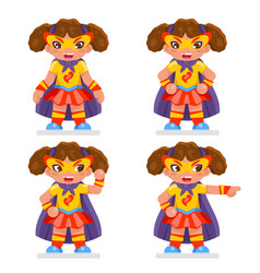 cute girl super power hero teen woman character vector image