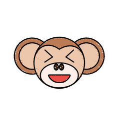 cute monkey drawing animal vector image