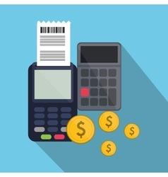 Dataphone of payment online design vector