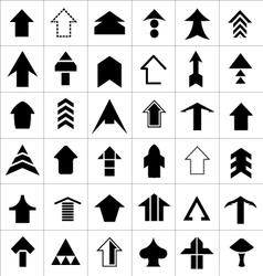 Design set of arrow vector image