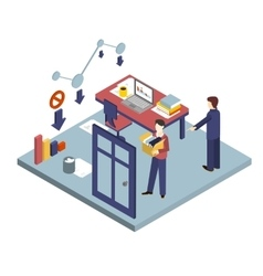 Dismissal of a Worker Isometric 3d vector