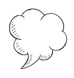 Doodle style speech bubble hand drawn vector