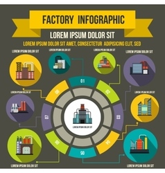 Factory infographic elements flat style vector image