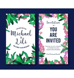 Floral background for invitation card banners set vector image