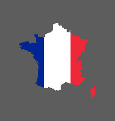 france flag and map vector image