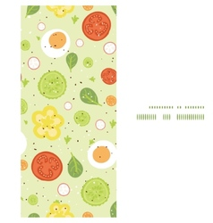 fresh salad vertical frame seamless pattern vector image