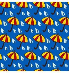 Funny umbrellas vector image