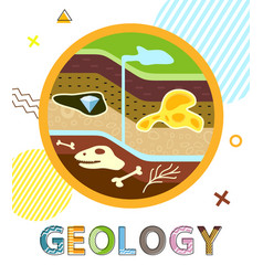 Geology poster soil layers vector