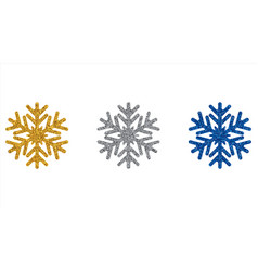 glitter snowflakes year design vector image