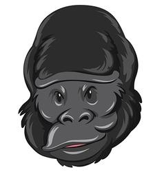 Gorilla head with happy face vector