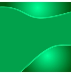 Green wave eco abstract two glossy waves natural vector image
