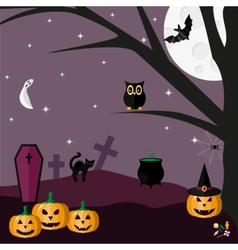 halloween can be used as a postcard or banner all vector image