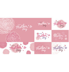 happy mothers day design and pink carnation vector image