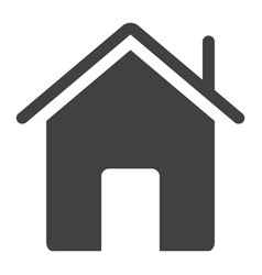 home glyph icon web and mobile house sign vector image