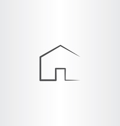 home icon simple black house symbol vector image
