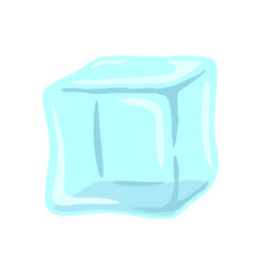 ice cube blue single isolated vector image