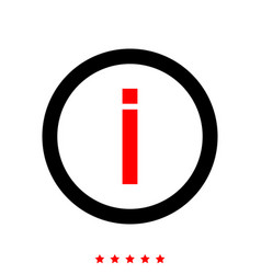information it is icon vector image