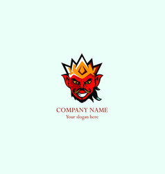 king man abstract logo vector image