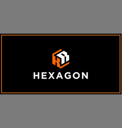 kr hexagon logo design inspiration vector image