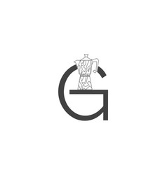 letter g coffee shop logo icon design template vector image