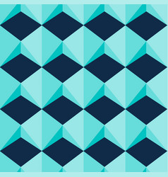 light blue geometric jewel shapes seamless vector image