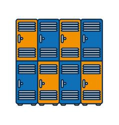 lockers icon image vector image