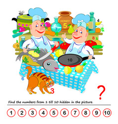 logic puzzle game exercise for young children vector image