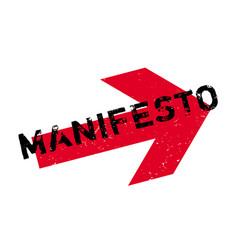 manifesto rubber stamp vector image
