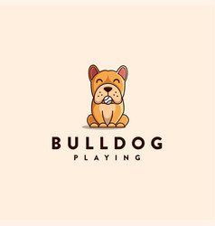 mascot character cartoon bulldog logo vector image