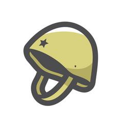 military helmet hard hat icon cartoon vector image