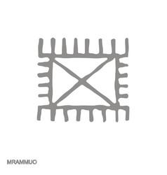 Monochrome icon with adinkra symbol mrammuo vector