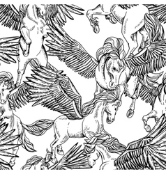 monochrome seamless pattern of winged vector image