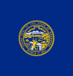 Nebraska state flag vector