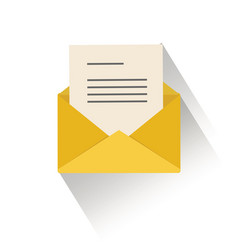 outline envelope email icon isolated on white vector image