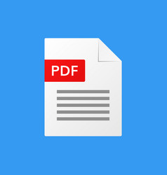 pdf document pdf file format vector image