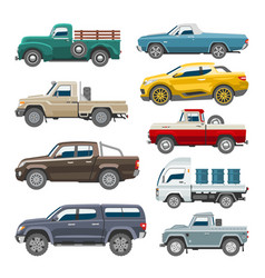 Pickup car auto delivery transport pick up vector