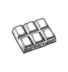 Piece of porous white chocolate vector