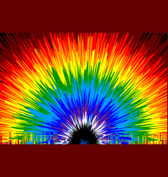 Rainbow pattern vector