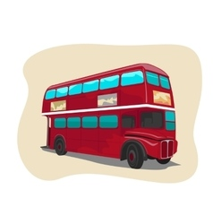 Red traditional double decker London bus vector