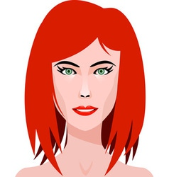 Redhead Girl vector