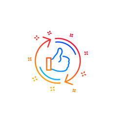 Refresh like line icon thumbs up sign vector