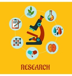 Research flat infographic vector image