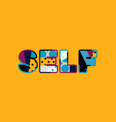 self concept word art vector image