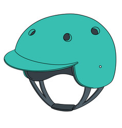 Set of bicycle helmet vector