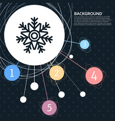 snowflake icon with the background to the point vector image vector image