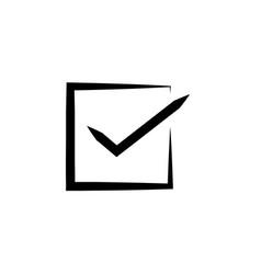 square checkbox or check box line art icon for vector image