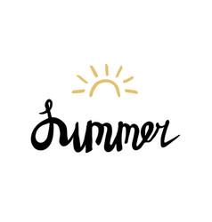 Summer card poster emblem quote vector