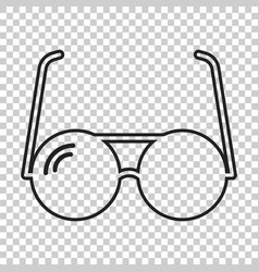Sunglass icon in line style eyewear flat vector