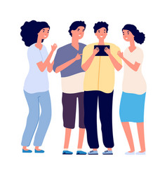 teenagers and tablet internet addiction online vector image