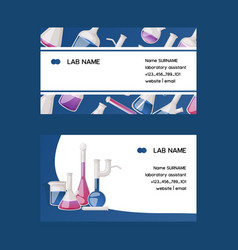 test-tube flask business card chemical vector image